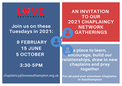 CHAPLAINCY NETWORK DATES